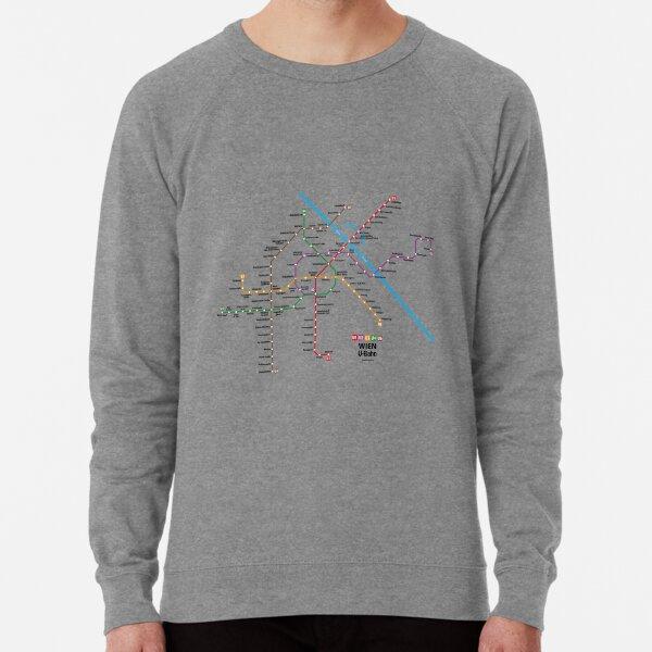 WIEN U-Bahn Map Lightweight Sweatshirt