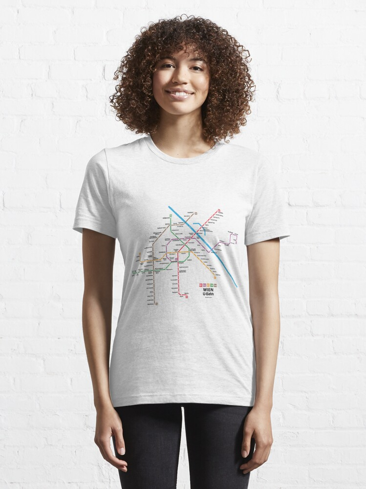 Alternate view of WIEN U-Bahn Map Essential T-Shirt