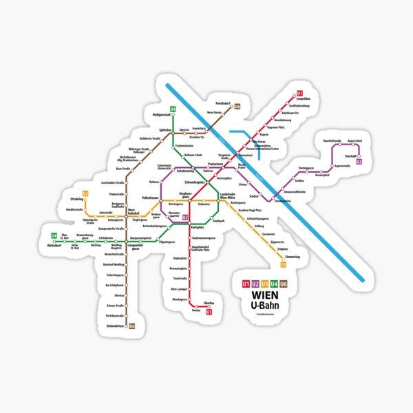 WIEN U-Bahn Map Sticker