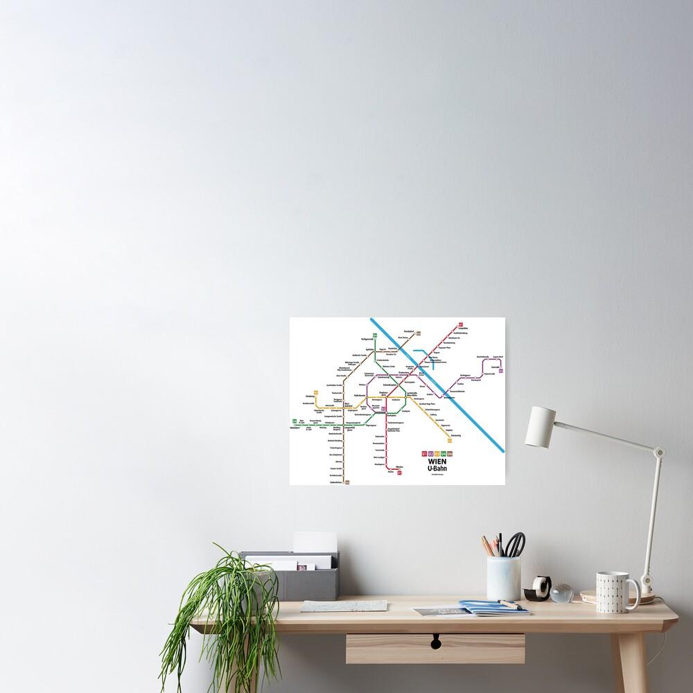 WIEN U-Bahn Map Poster