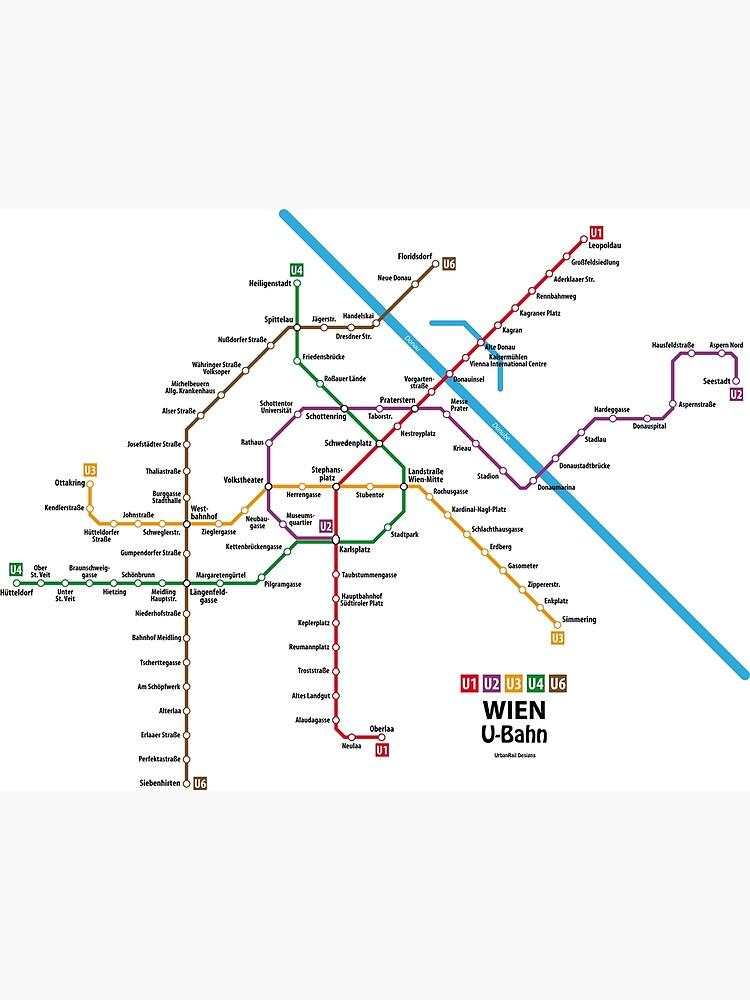WIEN U-Bahn Map by UrbanRail