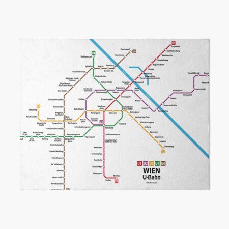 WIEN U-Bahn Map Art Board Print