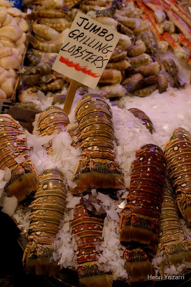 Lobster tails, Public Market, Seattle by Henri Irizarri
