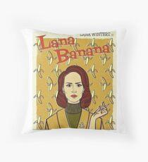lana banana Throw Pillow