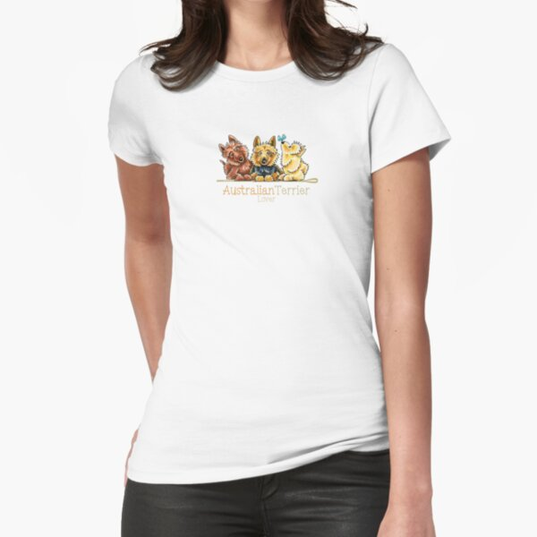 Australian Terrier Lover Fitted T-Shirt