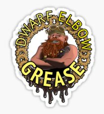 Dwarf elbow grease Sticker