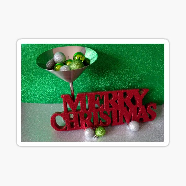 Noël 2017 Baubles Martini Sticker