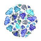 Blue Moths and Butterflies by Stephanie KILGAST