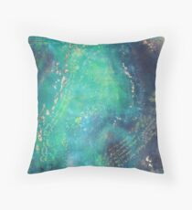Loving kindness Cold wax abstract Throw Pillow