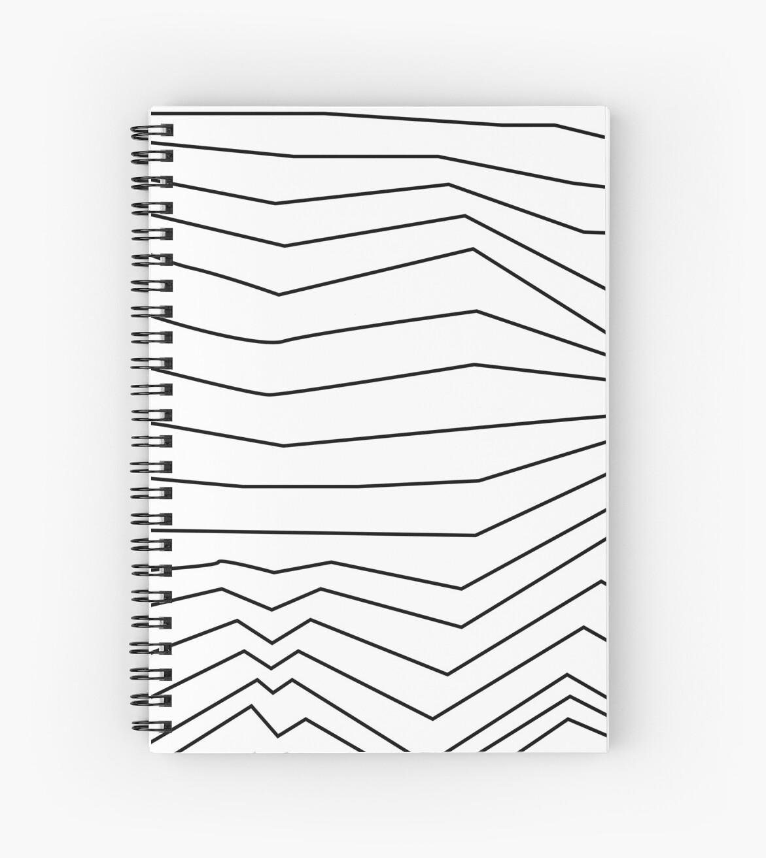 'Zig-zag line retro' Spiral Notebook by o2creativeNY