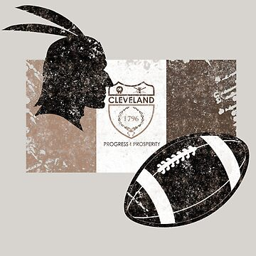 Cleveland, Ohio - Football - Indian Native - Distressed Flag by STYLESYNDIKAT