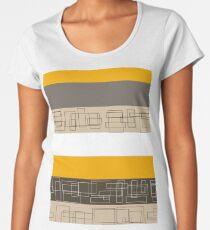 Yellow Stripe Women's Premium T-Shirt