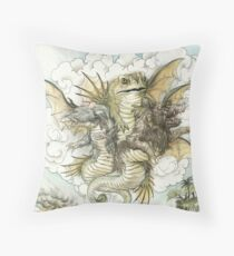 "The Spectre of ""Invasion"" Throw Pillow"