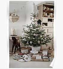 Christmas tree with presents Poster