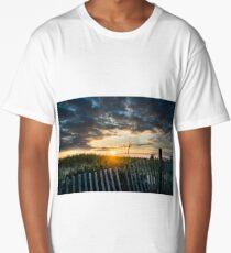 Beach Sunrise Landscape  Long T-Shirt