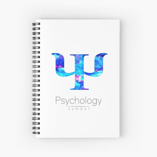 Psychology simbol. Watercolor logo Spiral Notebook