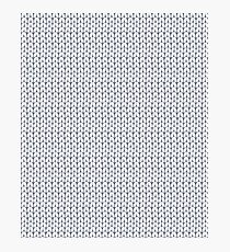 Knitted pattern. Photographic Print
