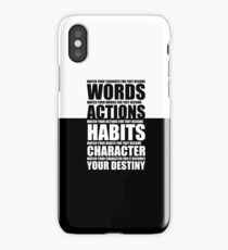 Watch your thoughts... Gym Motivational Quotes iPhone Case/Skin