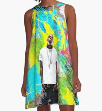 Jay Z - Celebrity (Oil Paint Art) A-Line Dress