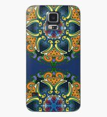 Mandala Paisley - Blue and Gold lotus Case/Skin for Samsung Galaxy