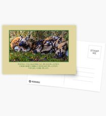 Japanese Zodiac 2018. African wild dogs resting Postcards