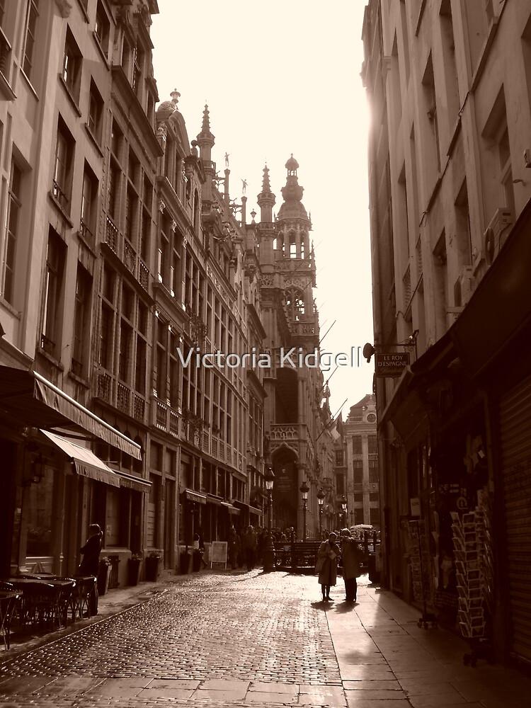 Old street in Brussels by Victoria Kidgell