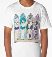 S.M. Crystal stained glass style Long T-Shirt