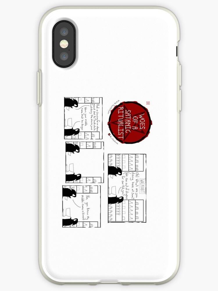 cheap for discount 297ae ecabe 'Woes Of A Satanic Ritualist: 3AM WALMART' iPhone Case by -TheMoMo