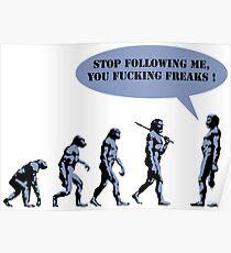 Evolution of man parody Poster