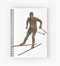 Rust Cross-country skiing Sticker Spiral Notebook