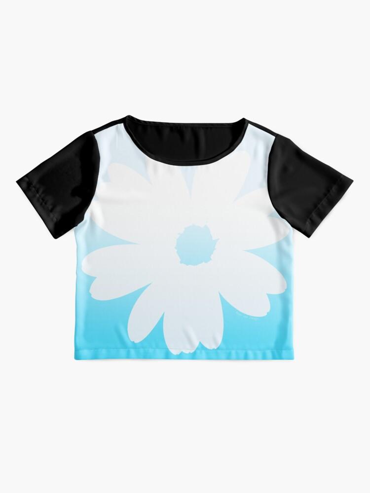 Top mousseline ''Fleur bleue': autre vue