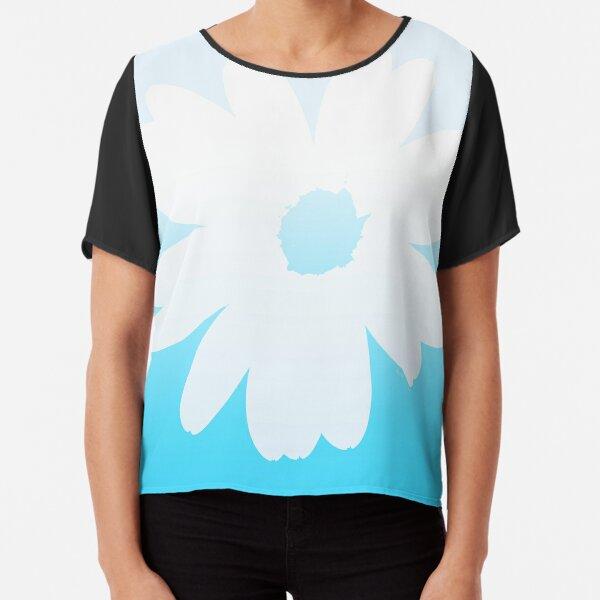 Blue flower Chiffon Top