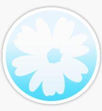 Fleur bleue Sticker