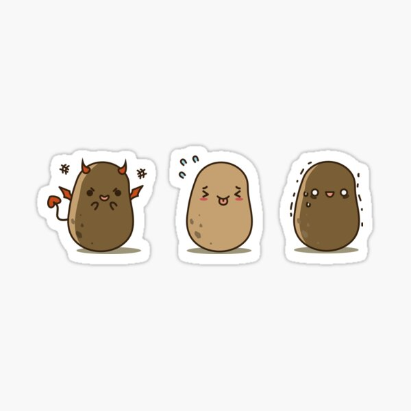 Silly Potato set Sticker