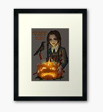 Wednesday Addams - Homicide Framed Print