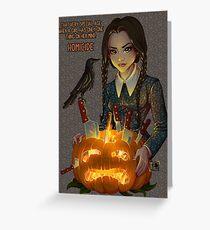 Wednesday Addams - Homicide Greeting Card