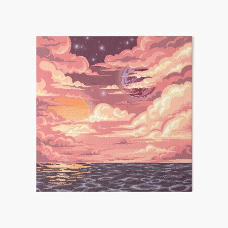 Pixel art dusk Lámina rígida