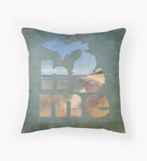 Michigan Home Throw Pillow