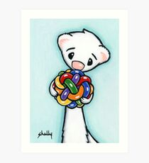 Fluffy and Her Ball Art Print