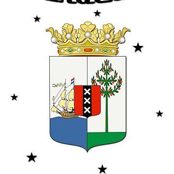 Curacao Flag - Coat of Arms - Caribbean by lemmy666