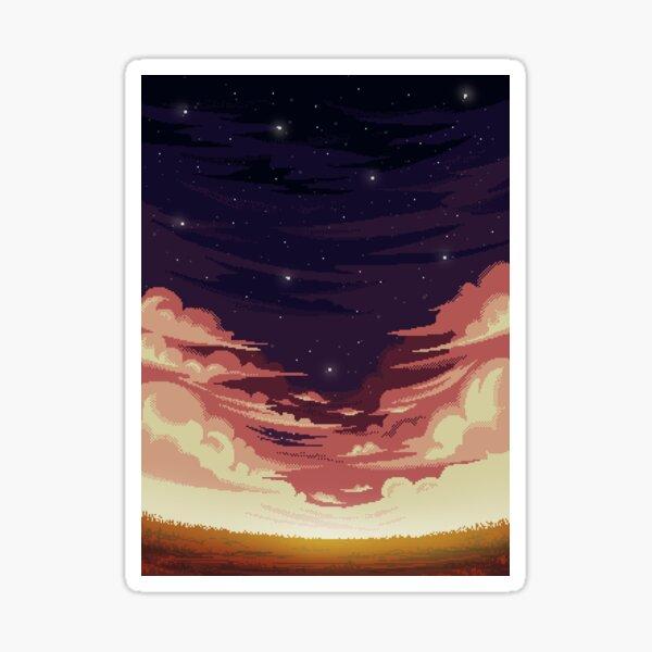 Sky Pixel art Pegatina