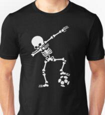 Dab dabbing skeleton football (soccer) Unisex T-Shirt