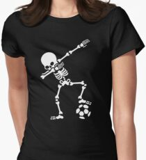 Dab dabbing skeleton football (soccer) Women's Fitted T-Shirt