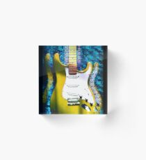 Electric Guitar #2 YELLOW Acrylic Block
