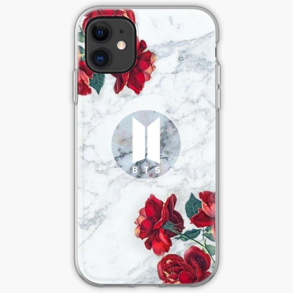 BTS Army Logo Marble v4 iPhone Soft Case