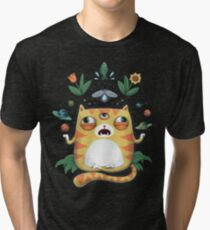 The All Knowing Cat Tri-blend T-Shirt
