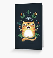 The All Knowing Cat Greeting Card