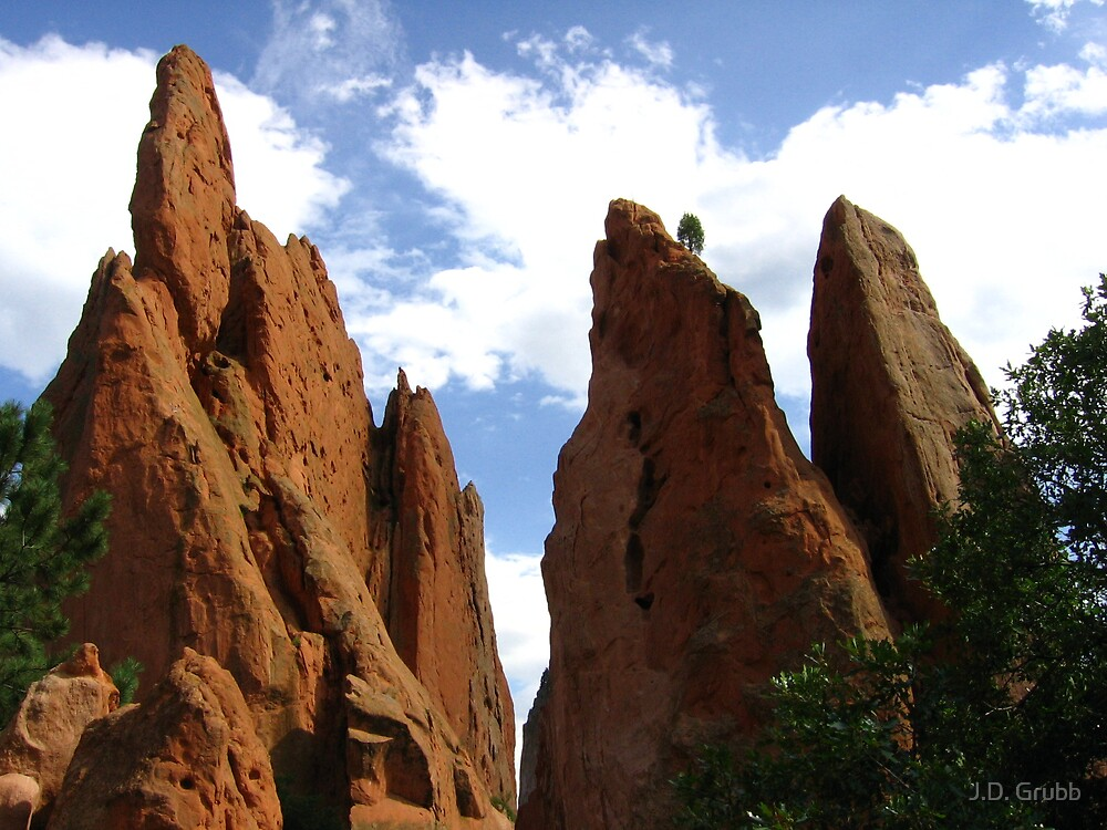 Sleeping Giant and Keyhole Window, Garden of the Gods, Colorado Springs, CO 2007 by J.D. Grubb