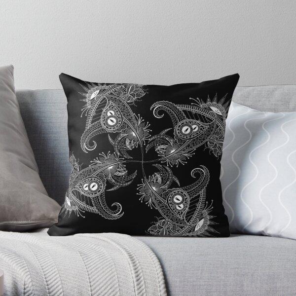Design 51 x 4 black as pattern Throw Pillow