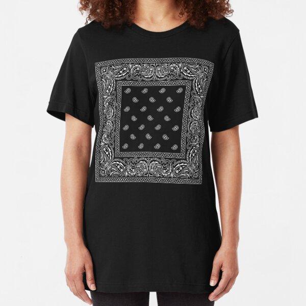 Bandanna Black Slim Fit T-Shirt